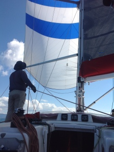 Race mode with spinnaker