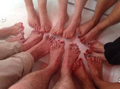 Port and starboard toes so no one gets it wrong!