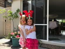 Caitlin and Sophie on Christmas Day