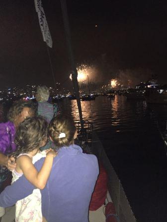 Midnight fireworks NYE