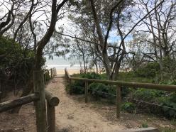 Beach path off the boardwalk