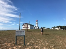 Janet makes it to Bustard Head Lighthouse