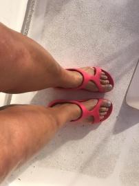 Waxed legs!