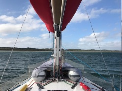 20+ knots sitting comfortably at Port Clinton