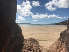 Low tide from the pink granite