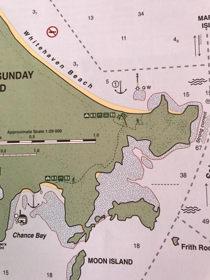 Map showing walking trail