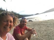 Beach sundowners
