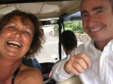 Being driven to the reception by Ken - thank goodness Jill was navigating!