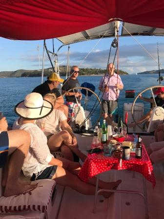 Plenty to drink on the sunset cruise!