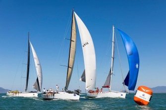 Andrea Frncolini shot of us ahead of NADM at the bottom mark, last day of racing!