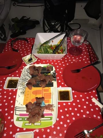 sashimi tuna - YUM!