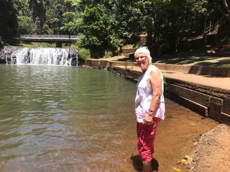 Fran at Milla Milla falls and pool
