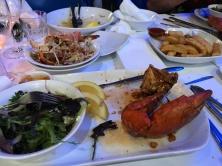 Crab dinner detritus
