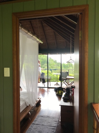 looking through our cabana to the balcony