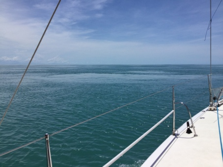 The whirlpools as we transited through the Vernon Isles