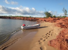 Trusty steed, The Goon Bag against Bauxite backdrop