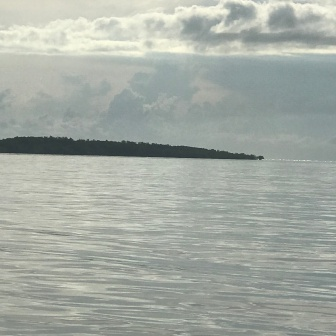 Looking towards Cape Don from Alcaro Bay anchorage