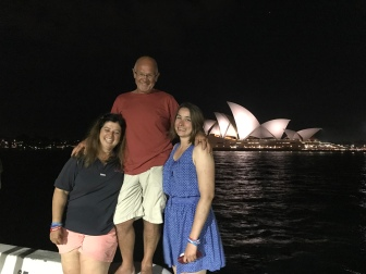 Sylvie, Paul and Anne-Lisa enjoying the sights of Sydney