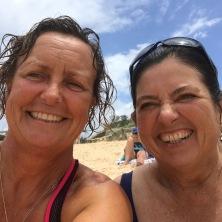 At Freshie beach with Sylvie