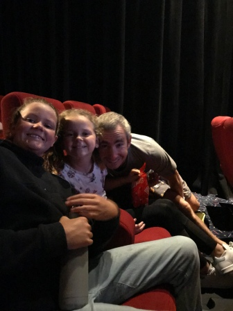 At the movies with Lil and Maisie